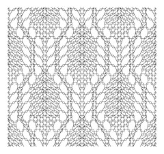Trellis-Framed Leaf Pattern