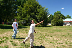 200708_04_03 - Hitting Birdies (bnjmnwood) Tags: park trip people toronto sport birdie action eldorado shuttlecock brampton racquet badmiton fz50 lumixfx50