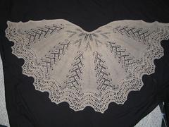 Ravelry Six Petal Half Circle Lace Shawl Pattern By