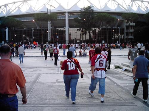 Outside Stadio Olimpico