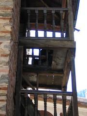 Wooden balcony, Rila Monastery, Bulgaria (Capn Sensible) Tags: monastery bulgaria rila 2007