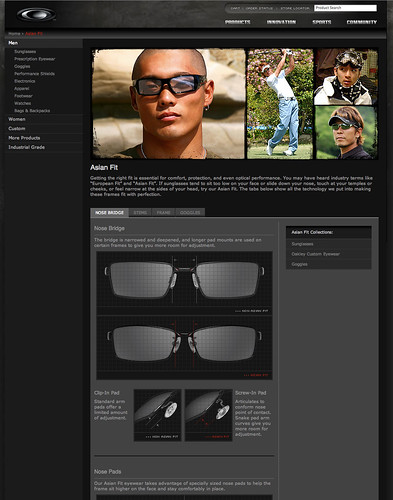 Oakley Asian Fit Page