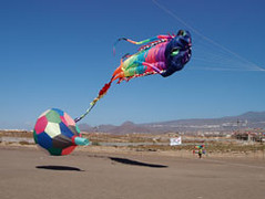 Strange creatures at the kite festival