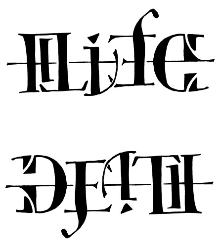 Life Death Tattoo Upside Down