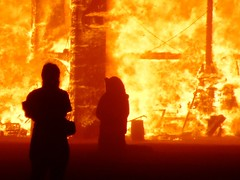 Temple of Forgiveness detail crop (In dust we trust) Tags: city black rock night temple fire lowlight playa burningman blackrockcity brc finepix fujifilm 2007 forgiveness s6000fd