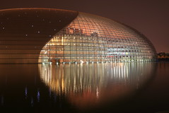 Beijing National Theatre II (China Chas) Tags: china architecture night beijing fv5   tiananmen 1022mm nationaltheatre 2007 nationalday  paulandreu changanjie