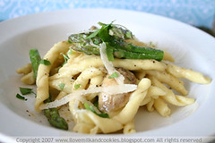 Three Cheese and Asparagus Umbricelli