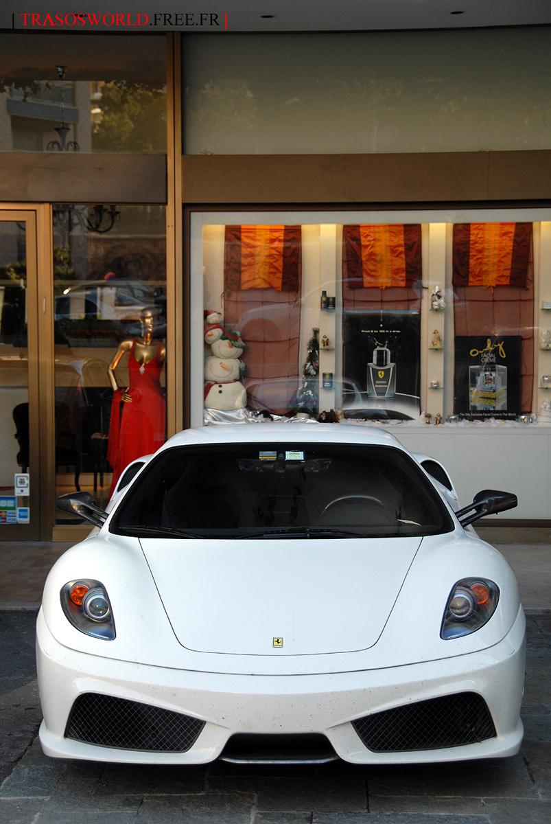 White Ferrari F430 Scuderia