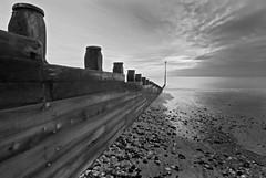 Breakwater (Bill Allen.) Tags: white black beach eastbourne seafront hdr groin breakwater