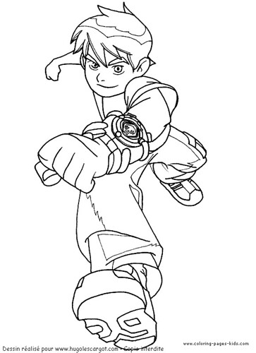 Ben 10 Coloring Page 07