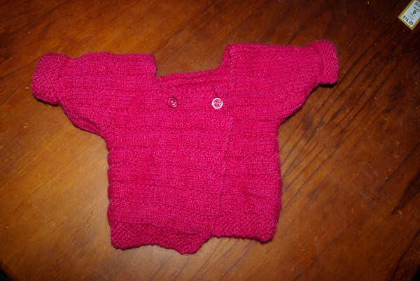 Pink sideways cardigan