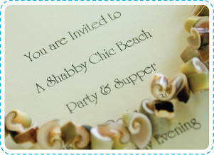 Shabby Beach Invitation