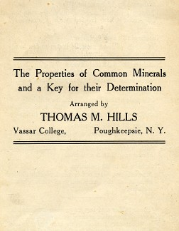 A handout Hills designed for his students.