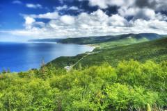 The Beauty and Glow of Cape Breton (Scerakor) Tags: ocean trees canada novascotia capebreton cabottrail landscapephotography