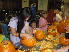 Carving Pumpkins at 4-H