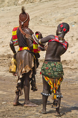 Dressing Up For The Bulljump - Ethiopia (Steven Goethals) Tags: travel portrait people face canon eos decoration culture tribal adventure peoples explore human valley 7d tribes omovalley tradition ethiopia tribe ethnic hamar tribo visage hamer ethnology tribu omo eastafrica etiopia ethiopie blackskin ethnique ethiopi goethals bulljumping bulljump africadelest stevengoethals