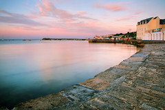 Sunset in Swanage (explored) (ryme-intrinseca, Facebook - BeckyStaresPhotography) Tags: ocean sunset sea water beautiful stone coast jetty calm dorset swanage jurassic swanagesunset