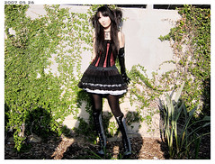 07Red - 1 - 010 (Alli Jiang) Tags: cute girl fashion asian punk boots lace gothic skirt lolita corset stocking egl visual streetfashion elegantgothiclolita arsilverfox jrockrevolution