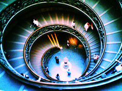 Almost there (databhi ) Tags: rome roma stairs spiral top f25 vaticanmuseum
