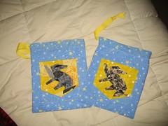 2 Hufflepuff gift bags