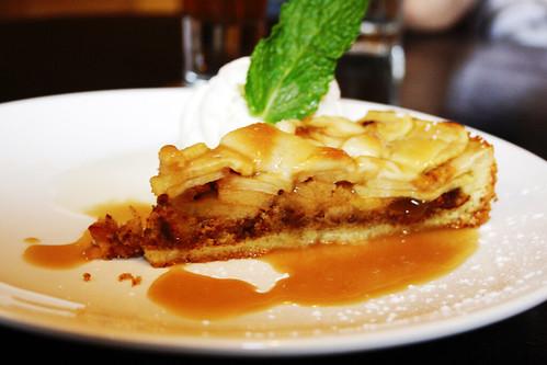 apple tart thing with vanilla ice cream