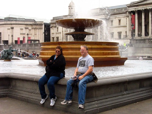Jim and Rowena at Trafalgar sq