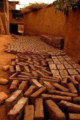 DSC_1140_tuyuguo_mud_bricks (kdriese) Tags: china brick desert muslim uighur xinjiang silkroad turpan taklamakan turfan nikond200 may2007 kendriese tuyuguo