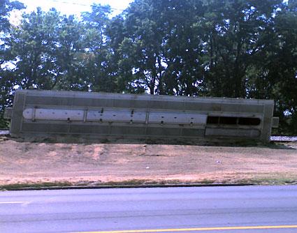 Railcar dumped