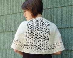 wedding shawlette - back (flint knits) Tags: wedding knitting lace silk knit merino alisha sandi wiseheart summershawlette