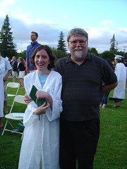 Cassi and Dad at Graduation