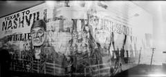 Willie (Nashville) (James Mundie) Tags: blackandwhite bw black blancoynegro film monochrome analog mediumformat holga mural noir nashville toycamera monochromatic oldschool 120film multipleexposure analogue countrymusic biancoenero 120mm ilfordfp4plus nashvilletn nashvegas blancetnoir musiccity blackandwhitefilm mundie mittelformat schwarzweis copyrightprotected jamesmundie jamesgmundie profjasmundie willieneson texastonashville jimmundie copyrightjamesgmundieallrightsreserved