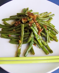 Stir-Fried String Beans with Sa-Cha Sauce