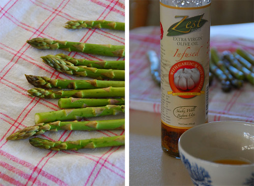 asparagus & chilli oil