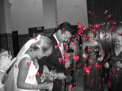 Sí, QuieRo (RoOoOo!!!) Tags: wedding bw woman man love byn cutout mujer couple chica married pareja amor boda iglesia husband lovers wife chico partner matrimonio hombre amantes novios novia novio enamorados casados marido petalos compromiso alianza desaturado 123bw selectivo