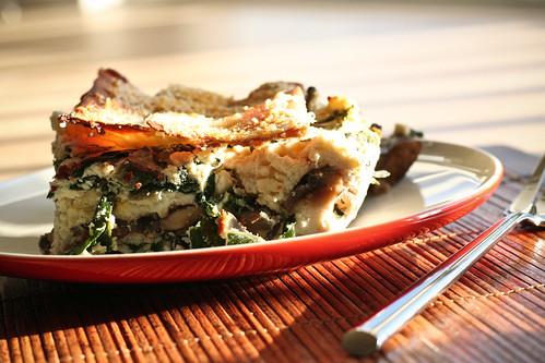 Mushroom, Rainbow Chard & Gruyere Lasagna