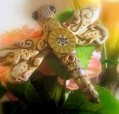 Steampunk Dragonfly Pendent