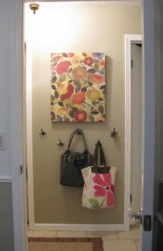 entry hall picture and hooks