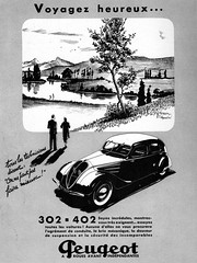 Pub PEUGEOT 302-402 (Juin 1937) (xavnco2) Tags: cars ads advertising pub antique publicité peugeot classiccars 402 302 1937 pubblicità automobilesfrance