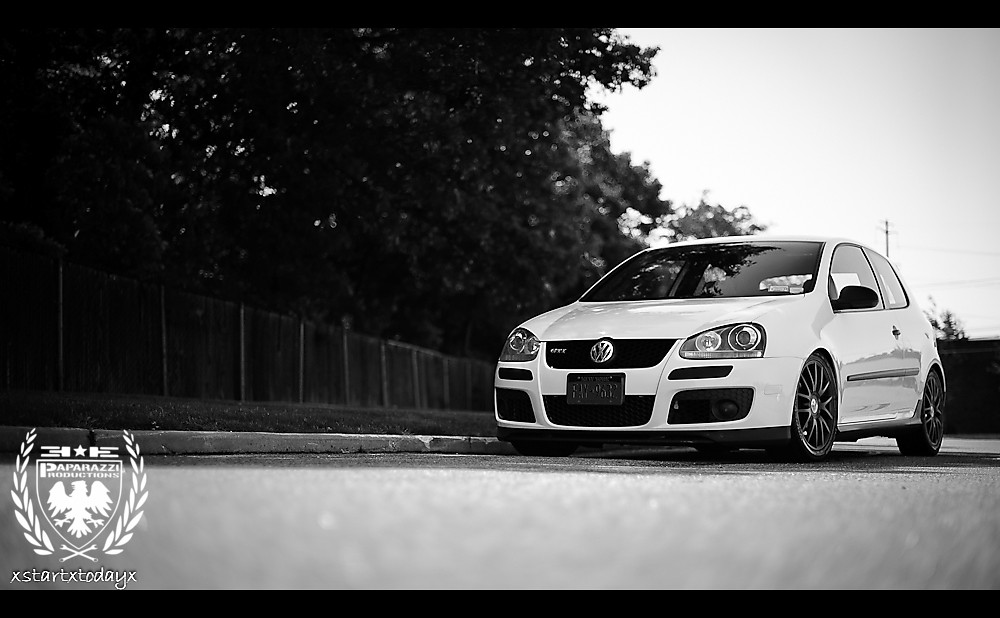 GTI in black and white