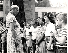 Eleanor Roosevelt at the Summer Institute in the 1950's