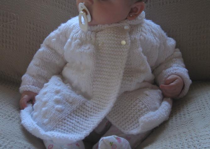 Tapado tejido para bebe/knitted baby jacket