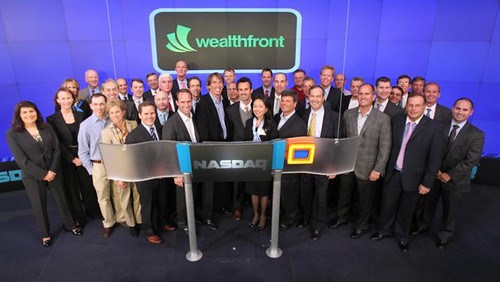 Online financial advisor Wealthfront rings NASDAQ in New York