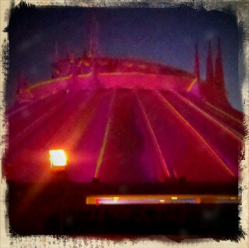 Space mountain in red