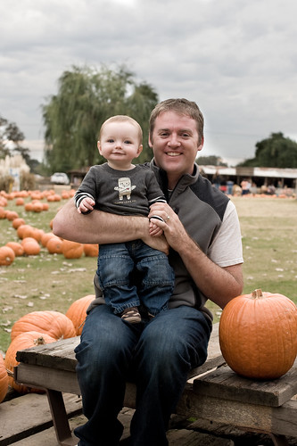 Noah in the pumpkins 12