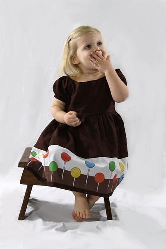 Handmade Brown Holiday Lollipop Dress