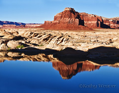 Lake Powell Reflection (kweaver2) Tags: lake reflection nature water rock landscape photography utah formation national glencanyon recreationarea worldwidelandscapes olympuse520 panoramafotogrfico kathyweaver mygearandme