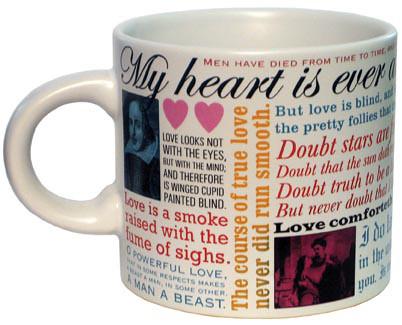 Shakespearean Love Mug from the Museum Shop.