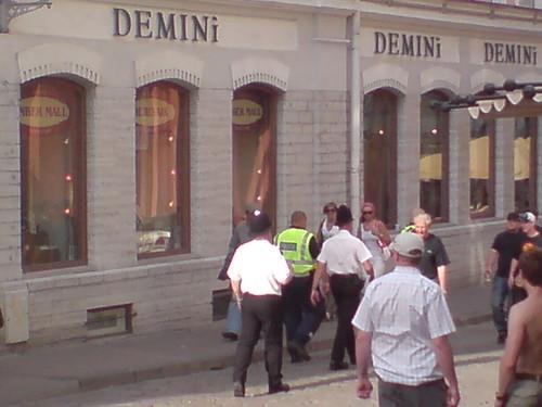 British police in Tallinn