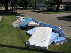 Used Mattresses on the curb
