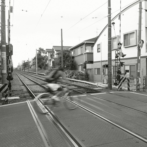 at crossing